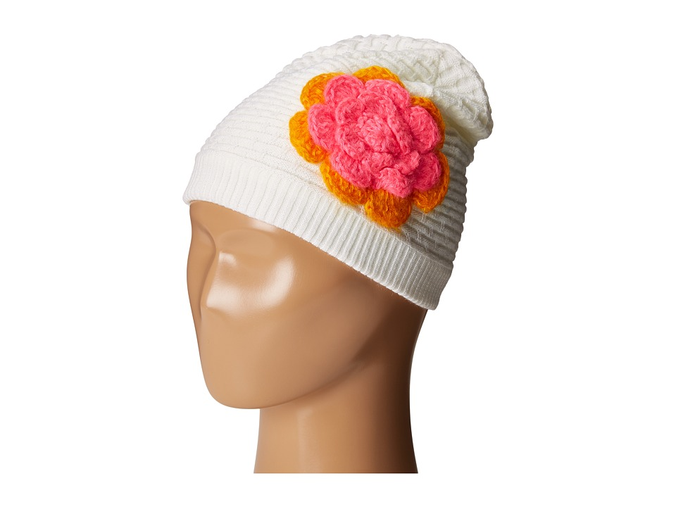 Spyder Kids - Bitsy Rosie Hat (Big Kids) (White/Edge/Bryte Bubblegum) Snow Hats