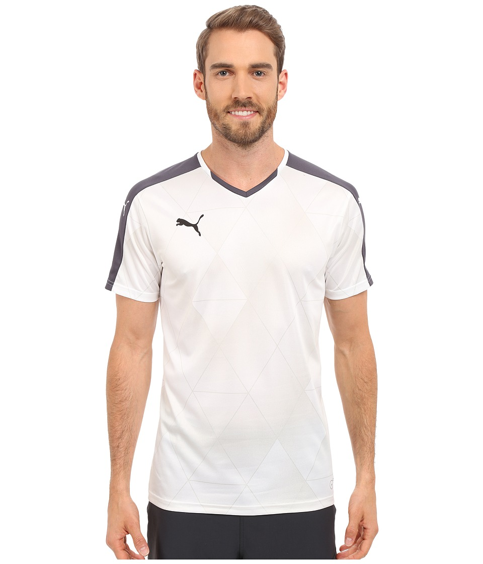 PUMA - Swerve Short Sleeved Shirt (Ebony/White) Men's Short Sleeve Pullover