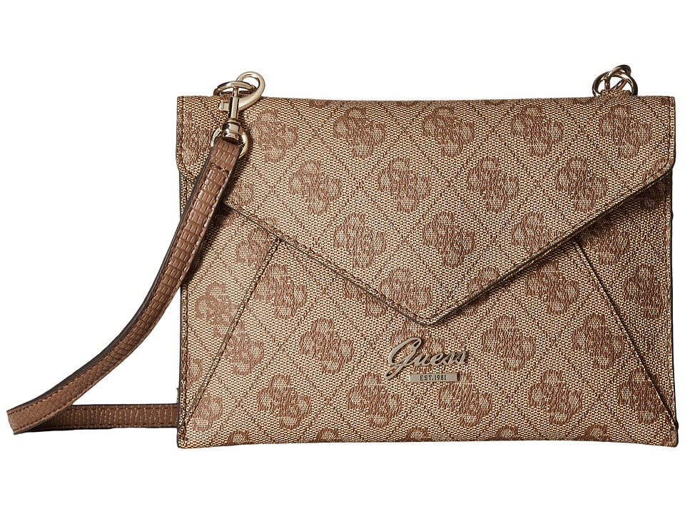 GUESS - Park Lane Petite Envelope (Brown) Handbags