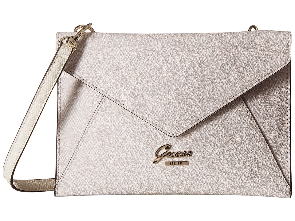 GUESS - Park Lane Petite Envelope (Cement) Handbags