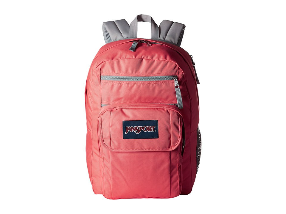 JanSport - Digital Student (Coral Sparkle/White Dots) Backpack Bags