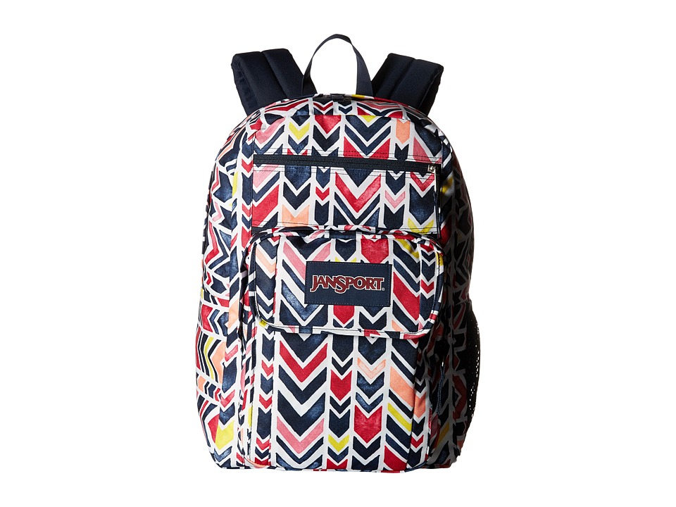 JanSport - Digital Student (Navy Watercolor Chevron) Backpack Bags