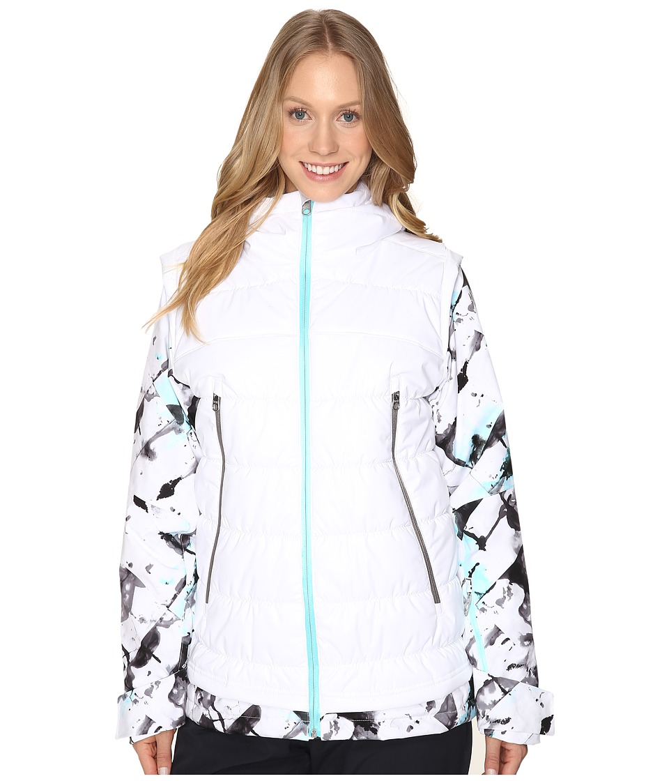 Spyder - Moxie Jacket (White/Frozen Freeze/Freeze) Women's Coat