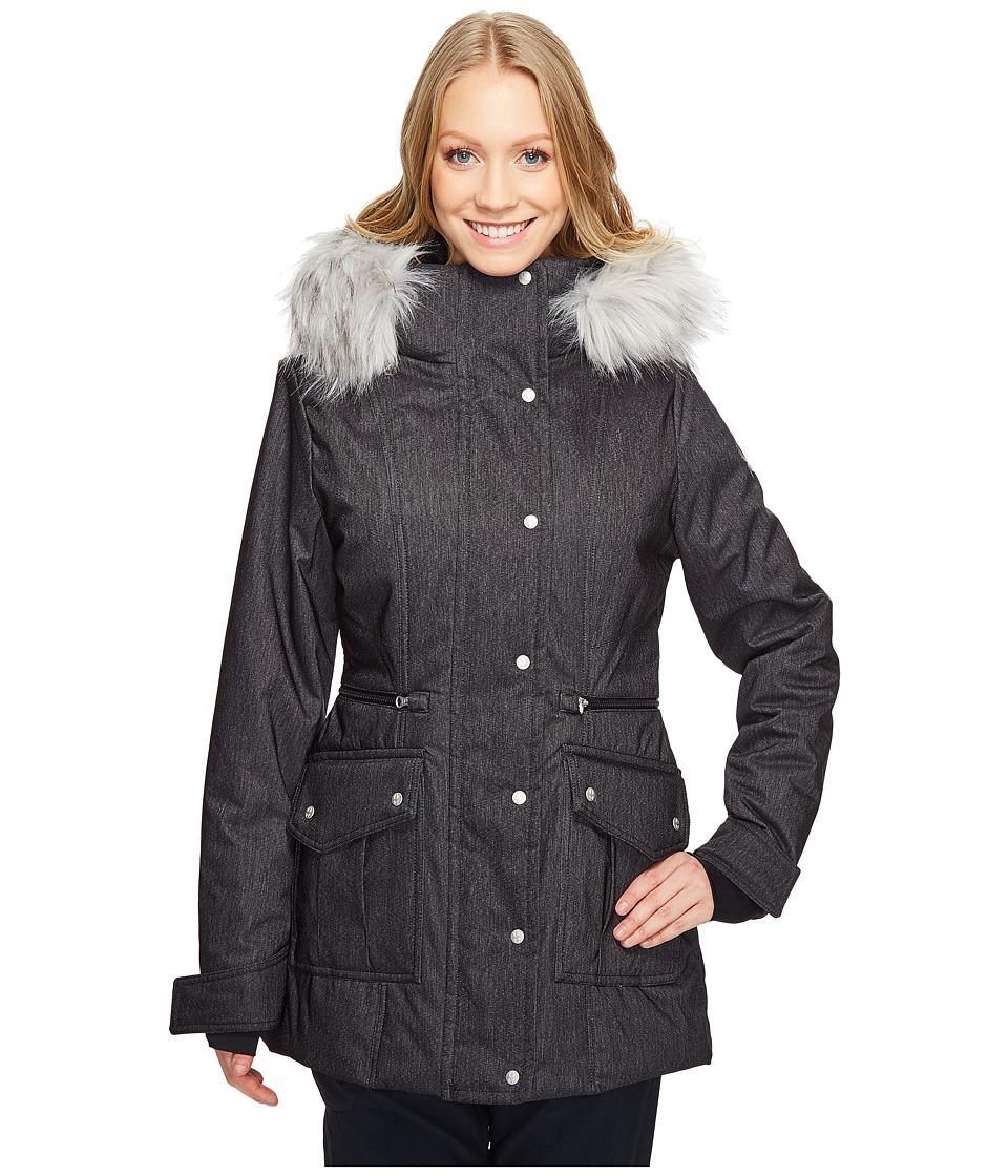Spyder - Arctyc Jacket (Black Denim/Silver/Black) Women's Coat
