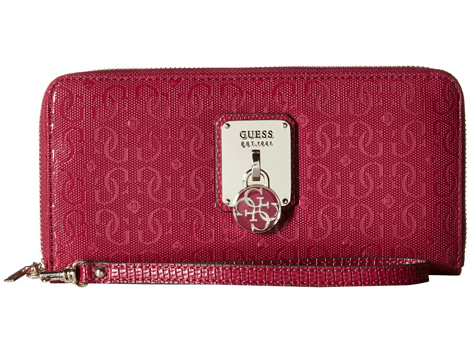 GUESS - Rosalind SLG Large Zip Around (Claret) Wallet