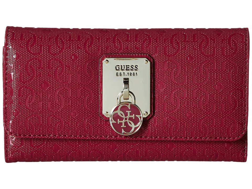 GUESS - Rosalind SLG Slim Clutch (Claret) Wallet Handbags
