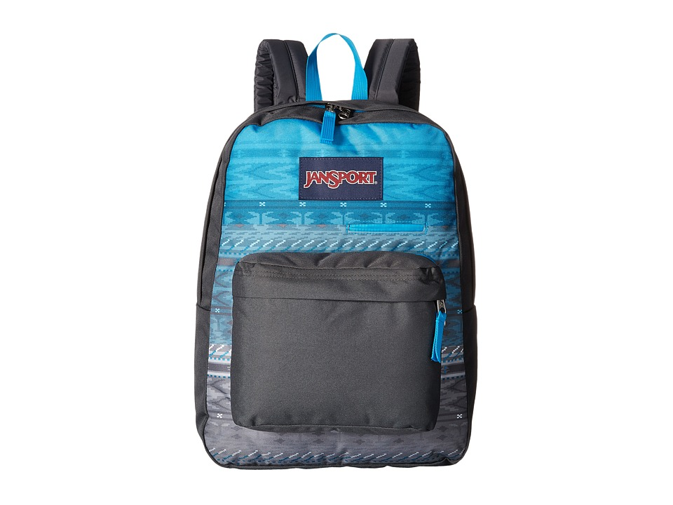 JanSport - Digibreak (Blue Digi Stripe Fade) Backpack Bags