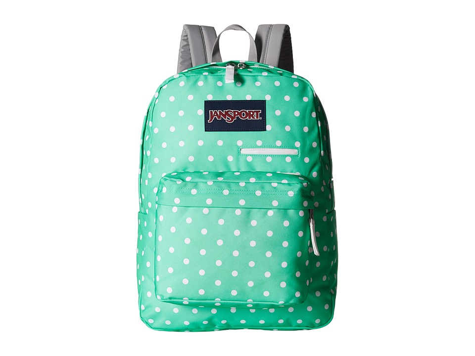 JanSport - Digibreak (Seafoam Green/White Dots) Backpack Bags