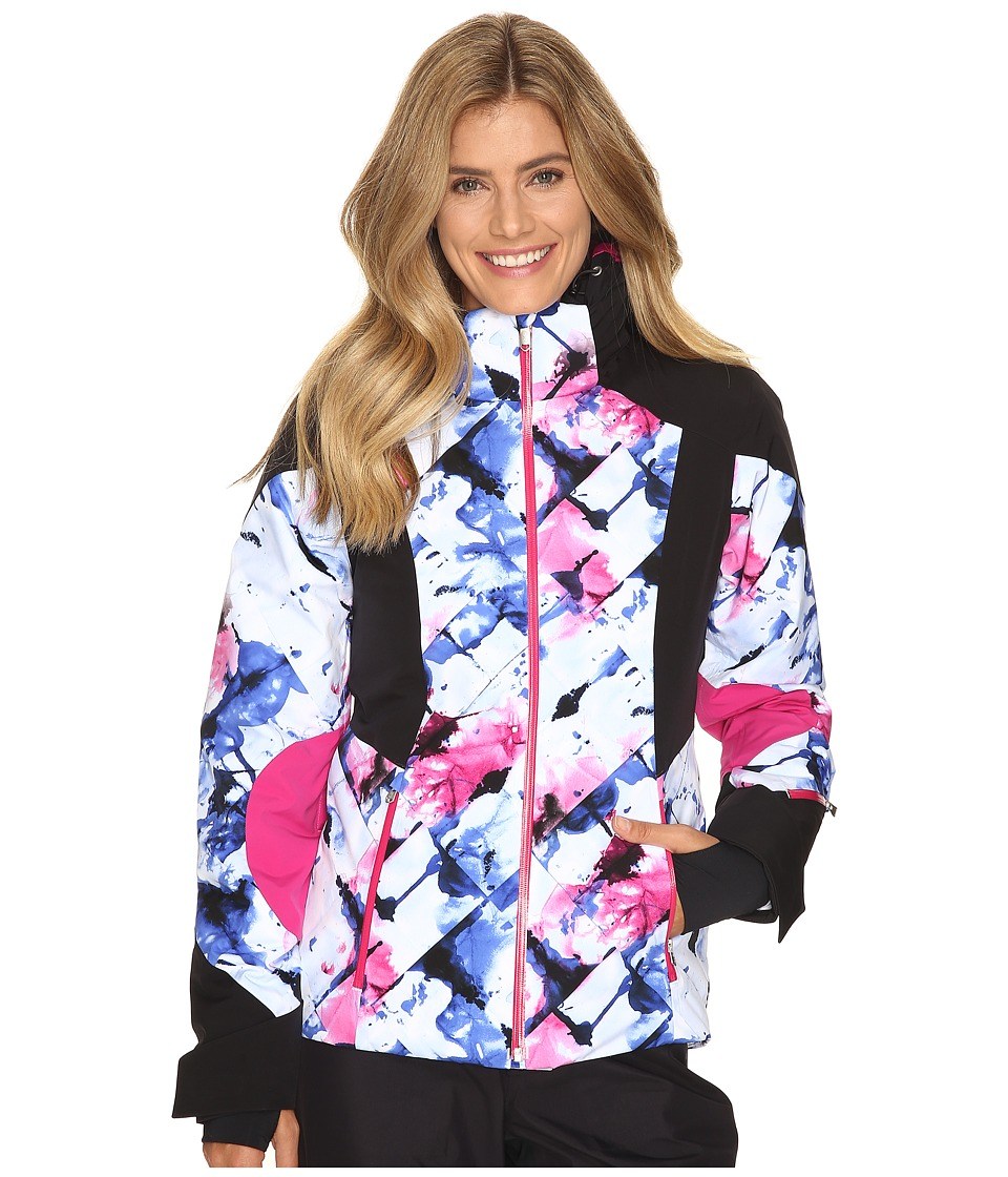 Spyder - Temerity Jacket (Frozen Bling/Black/Voila) Women's Jacket