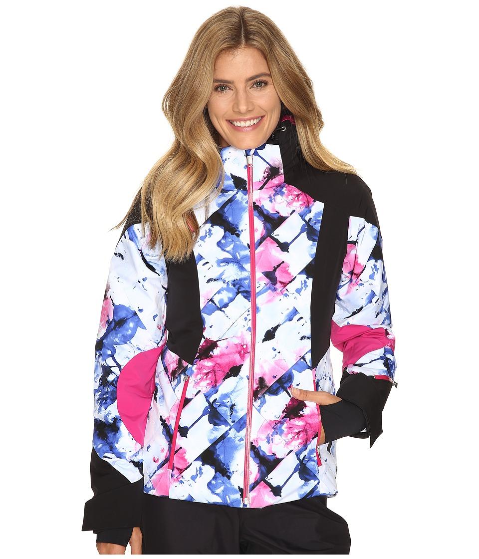Spyder - Temerity Jacket (Frozen Bling/Black/Voila) Women's Jacket