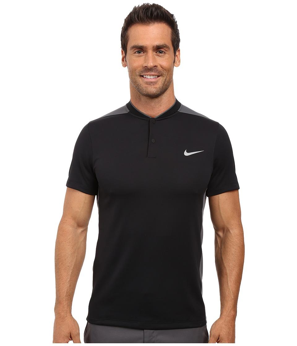 Nike Golf - Momentum Fly Sphere Blocked Polo (Black/Dark Grey/Black/Reflective Silver) Men's Short Sleeve Pullover