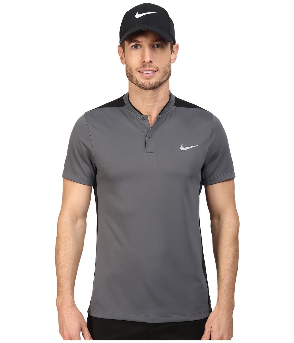 Nike Golf - Momentum Fly Sphere Blocked Polo (Dark Grey/Black/Dark Grey/Reflective Silver) Men's Short Sleeve Pullover