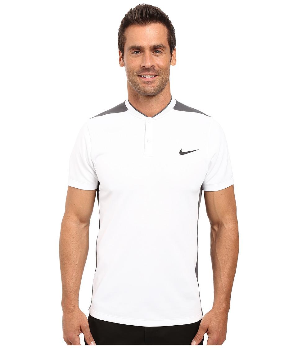 Nike Golf - Momentum Fly Sphere Blocked Polo (White/Dark Grey/White/Reflect Black) Men's Short Sleeve Pullover