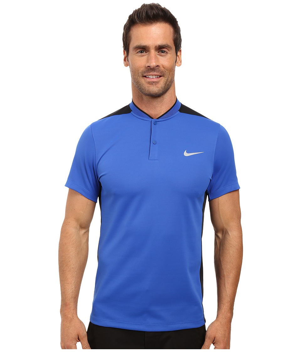 Nike Golf - Momentum Fly Sphere Blocked Polo (Game Royal/Black/Game Royal/Reflective Silver) Men's Short Sleeve Pullover
