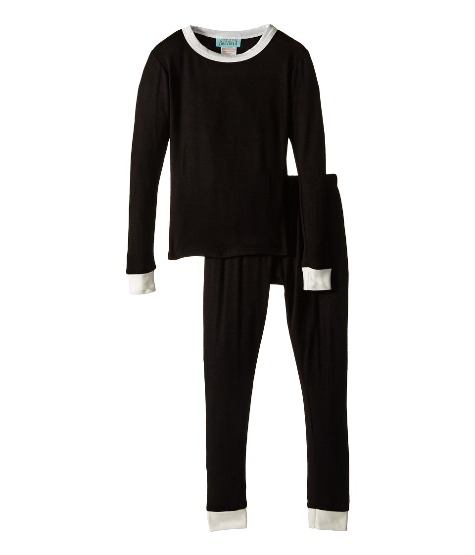 BedHead Kids - Snug Fit L/S Classic PJ (Toddler/Little Kids) (Black Solid) Girl's Pajama Sets