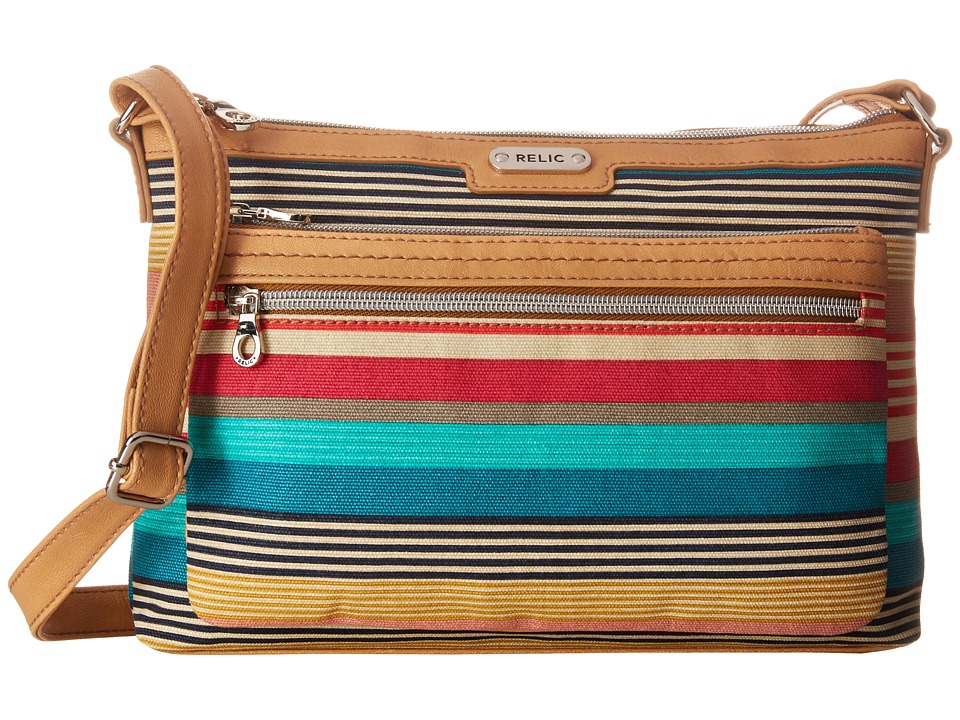 Relic - Evie East West Crossbody (Bright Stripe) Cross Body Handbags