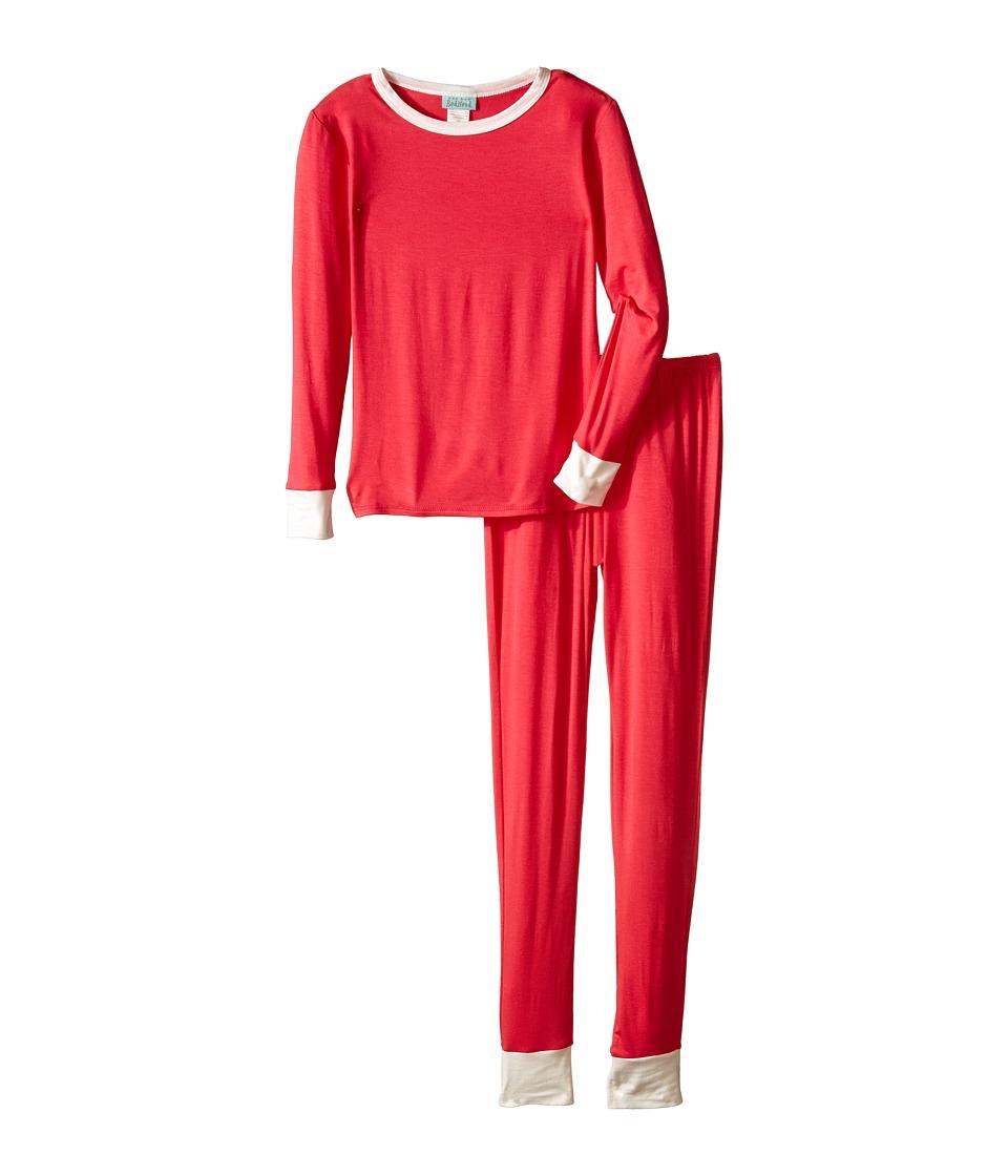 BedHead Kids - Snug Fit L/S Classic PJ (Big Kids) (Deep Coral) Girl's Pajama Sets