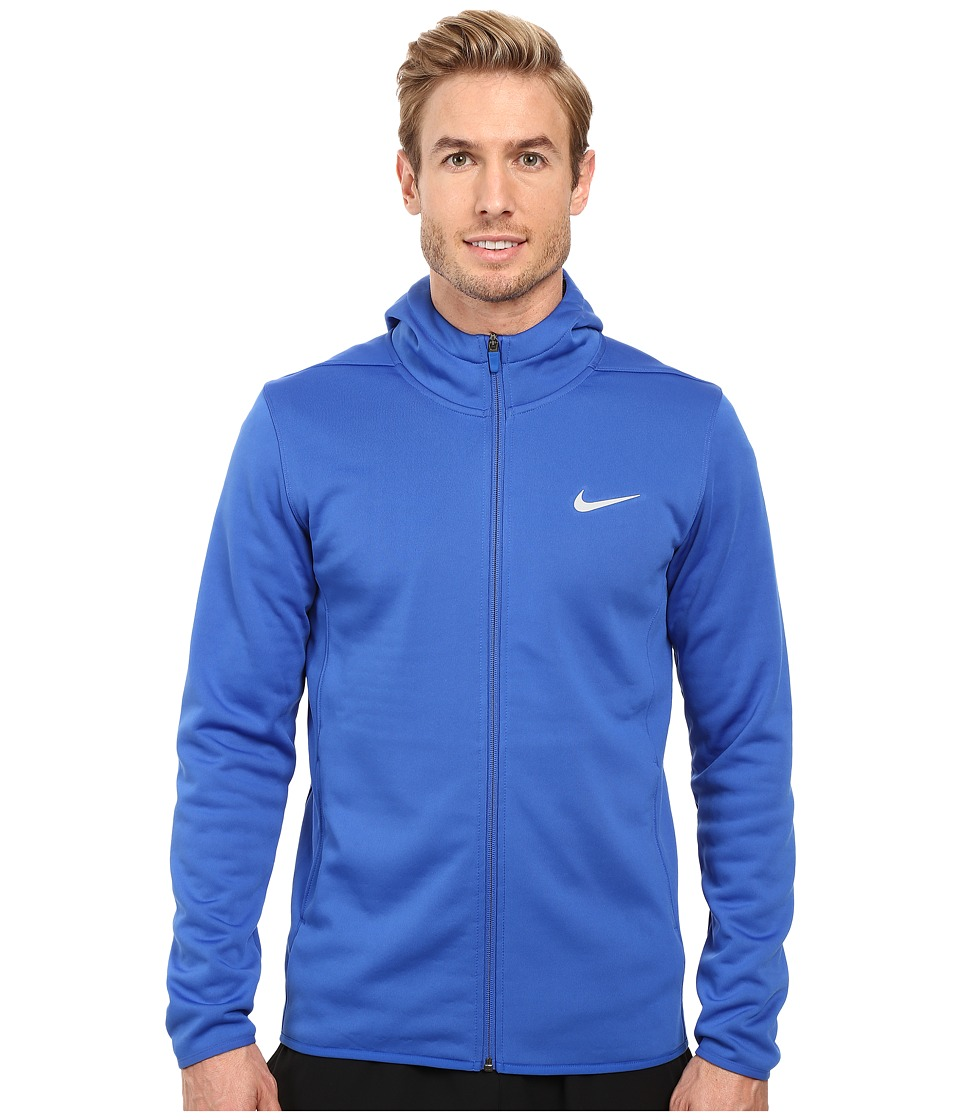 Nike - Tech Sphere Full Zip Hoodie (Game Royal/Black/Flat Silver) Men's Sweatshirt