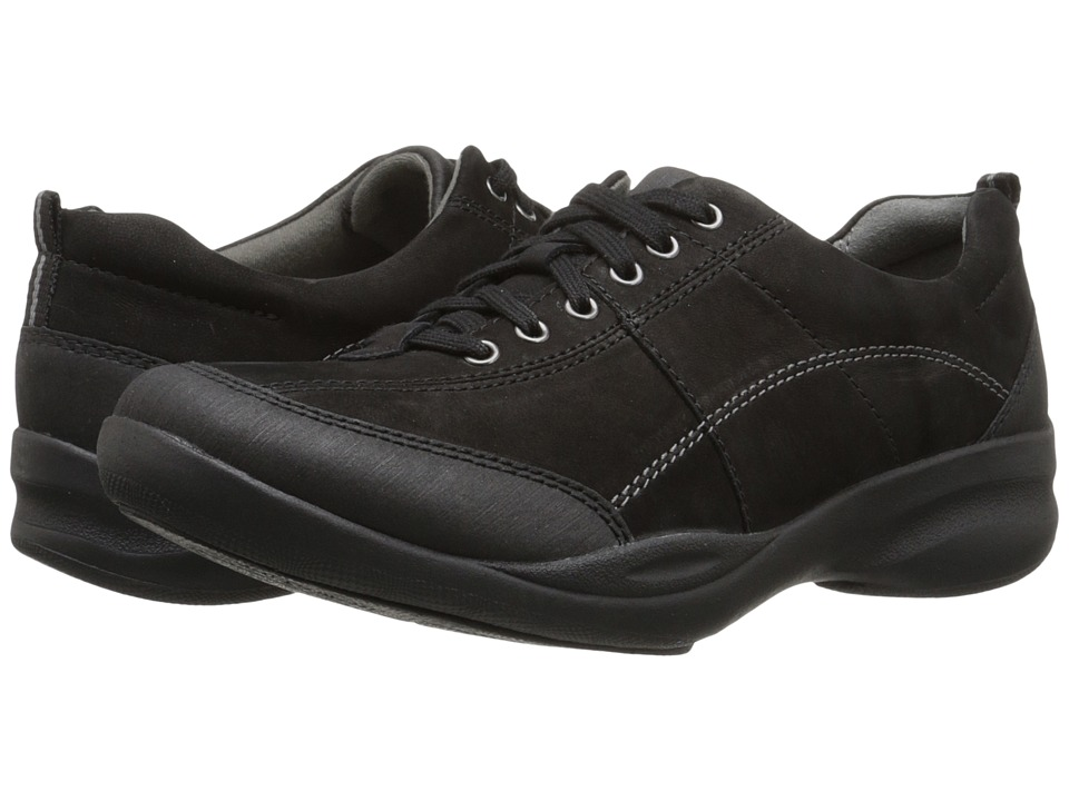 Clarks - In Motion Drive (Black Nubuck) Women's Shoes
