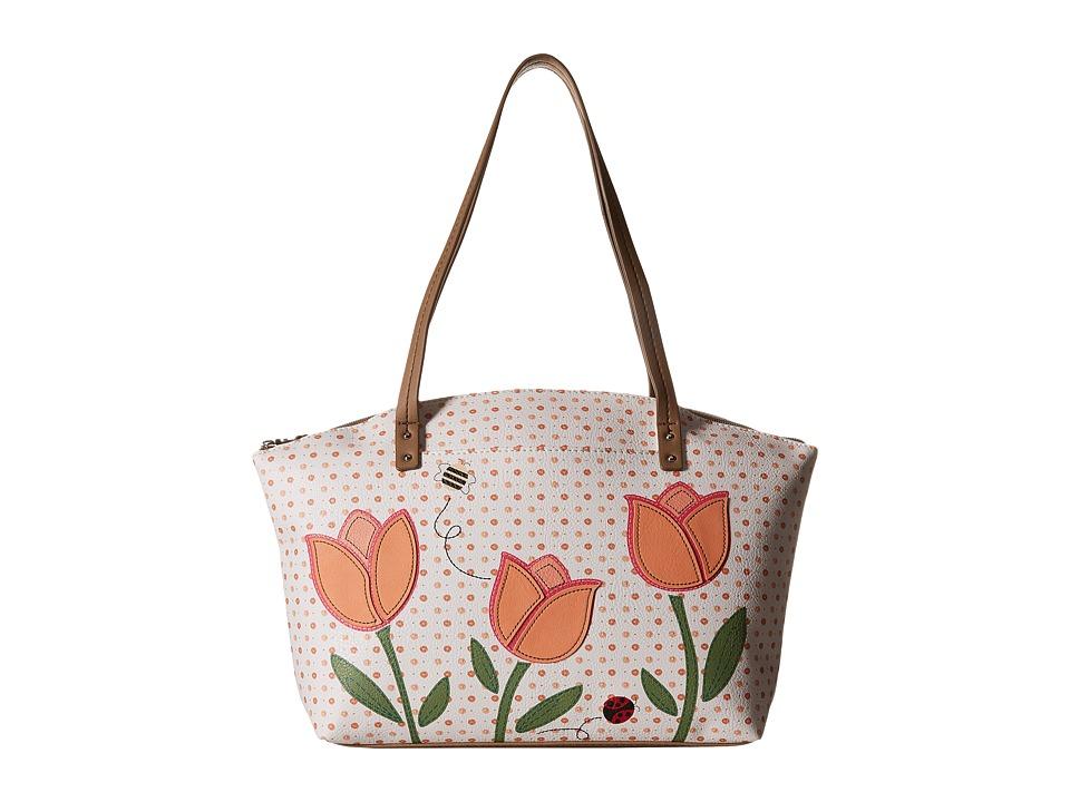 Relic - Caraway Novelty Medium Tote (Coral Multi) Tote Handbags