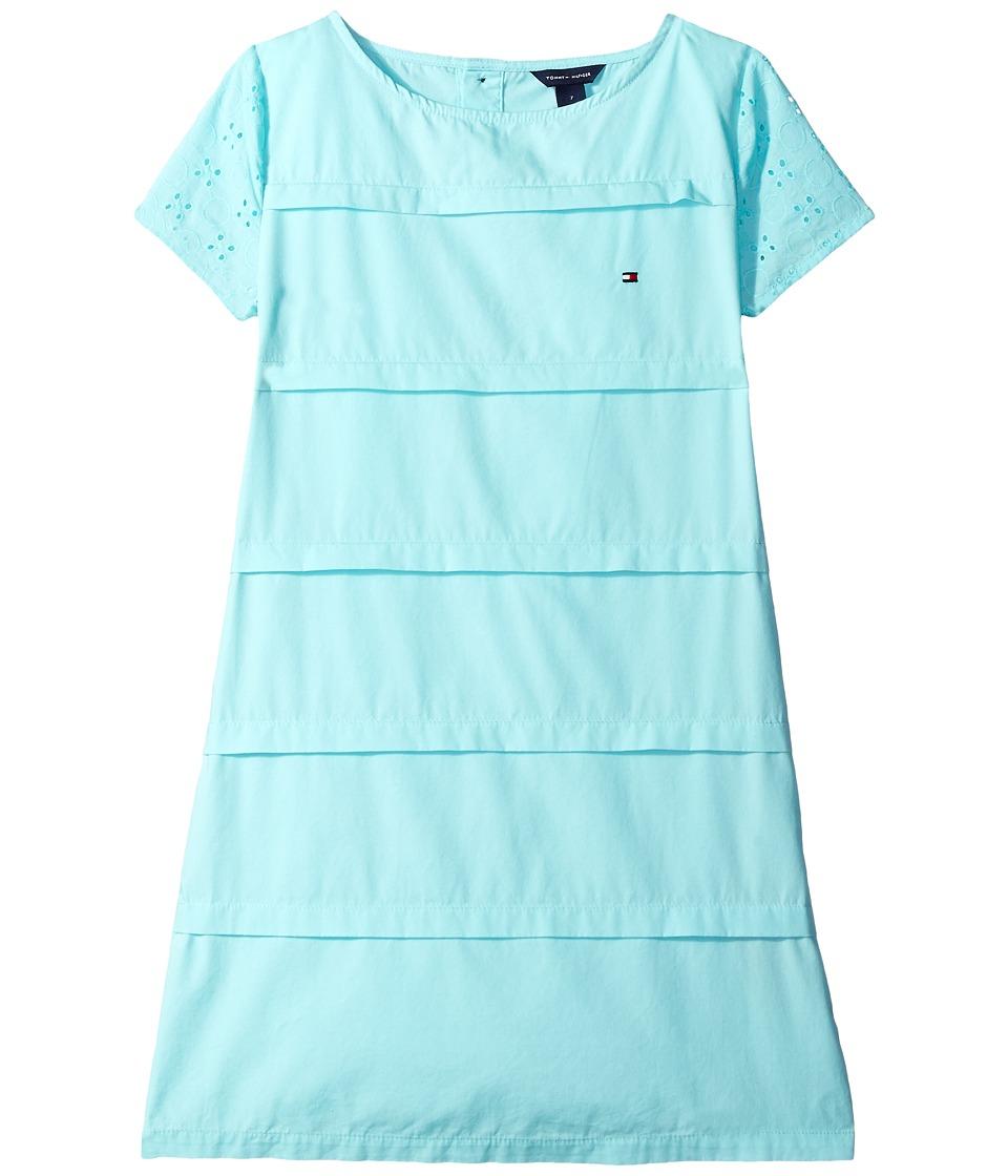 Tommy Hilfiger Kids - Pintuck Shift Dress (Little Kids/Big Kids) (Aruba Blue) Girl's Dress