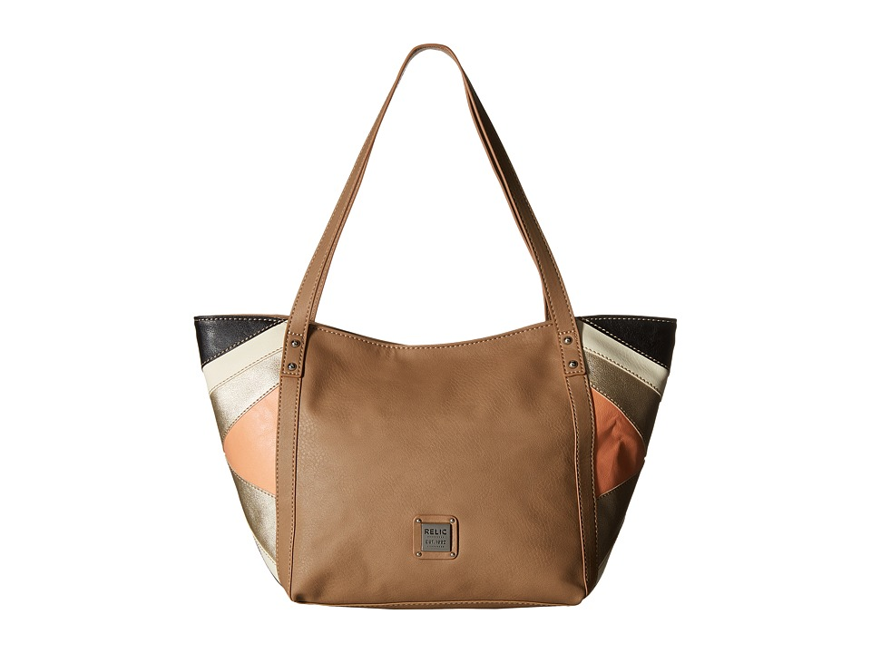 Relic - Leigh Double Shoulder (Tan) Shoulder Handbags