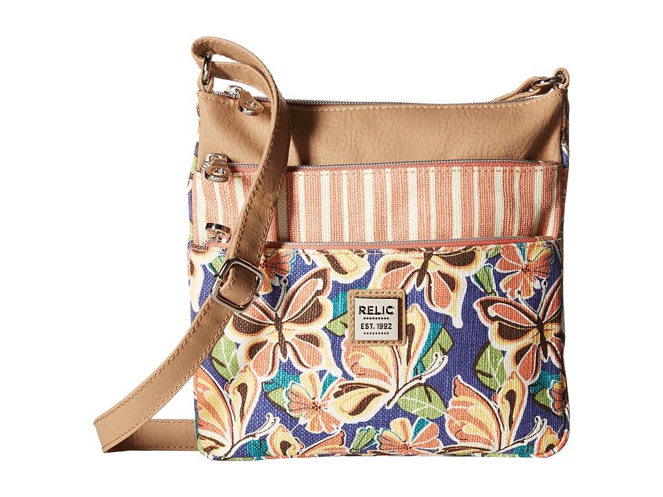 Relic - Erica NS Top Zip (Butterfly Multi) Cross Body Handbags
