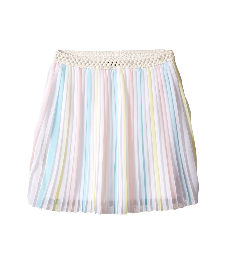 Tommy Hilfiger Kids - Printed Chiffon Skirt (Big Kids) (White) Girl's Skirt