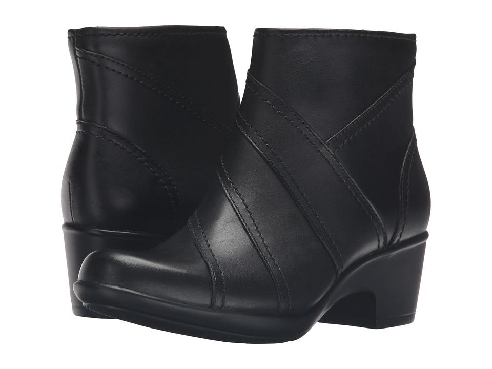 Clarks - Malia Marney (Black Leather) Women's Shoes