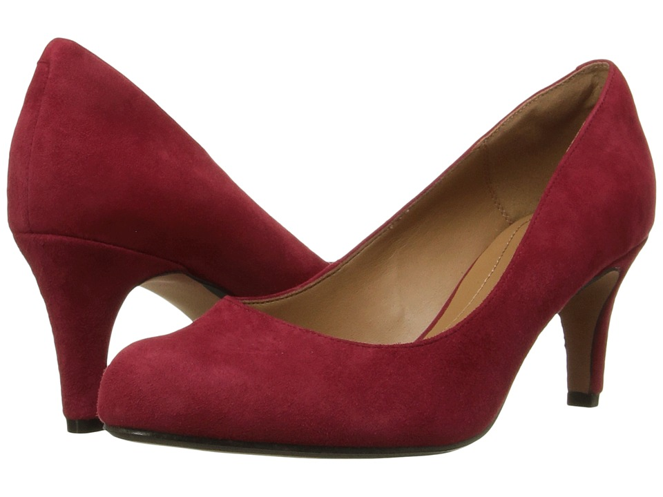 Clarks - Arista Abe (Red Suede) Women's Shoes
