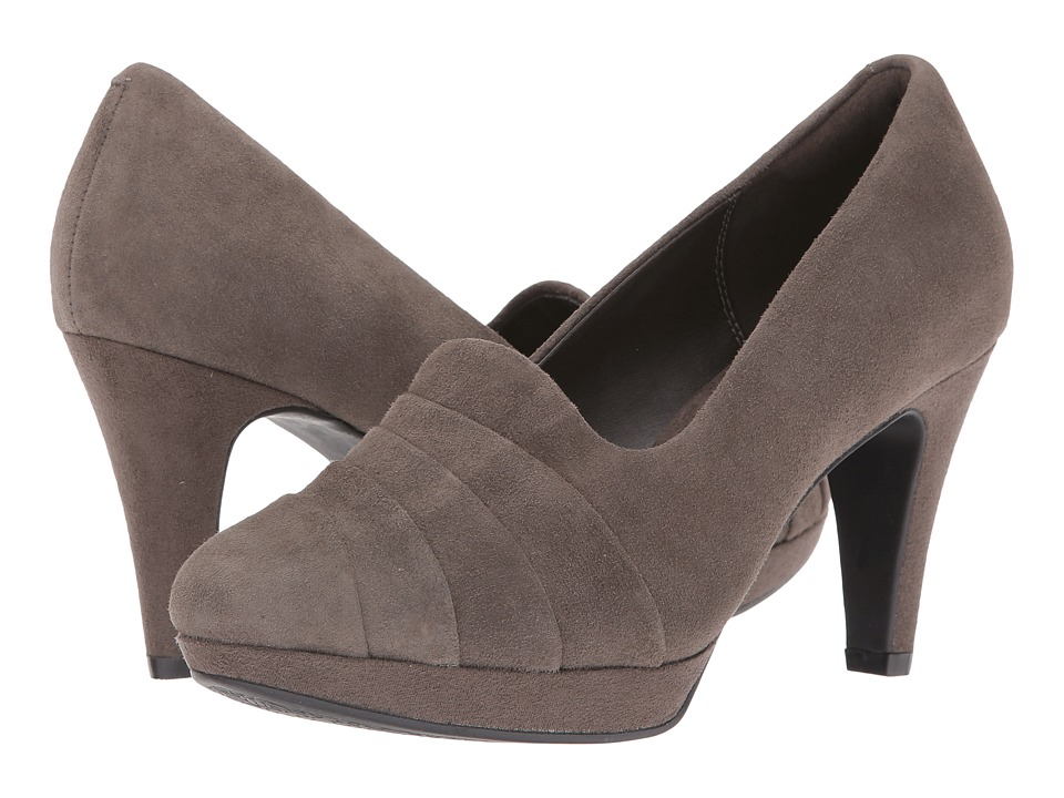 Clarks - Narine Flora (Taupe Suede) Women's Shoes
