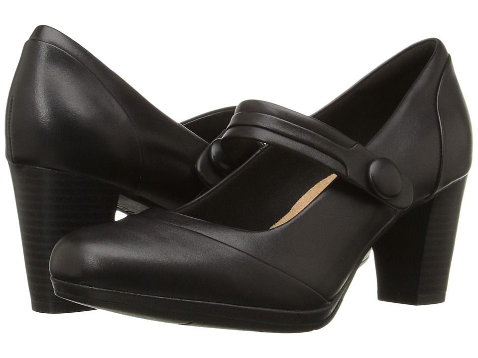 Clarks Brynn Mare (Black Leather) Women