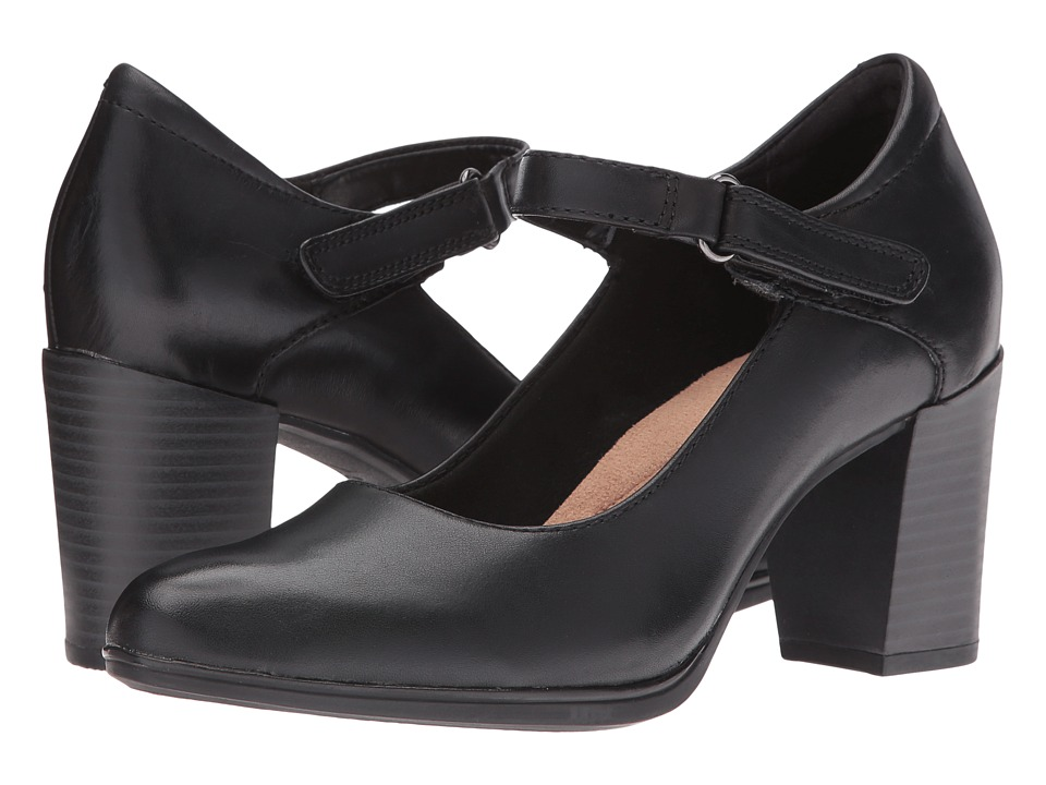 Clarks - Araya Frost (Black Leather) Women's Shoes