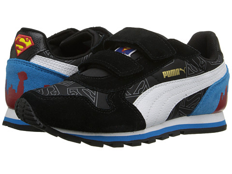 PUMA - ST Runner Superman (Infant/Toddler/Little Kid) (Black/Gray Violet/White) Men's Shoes