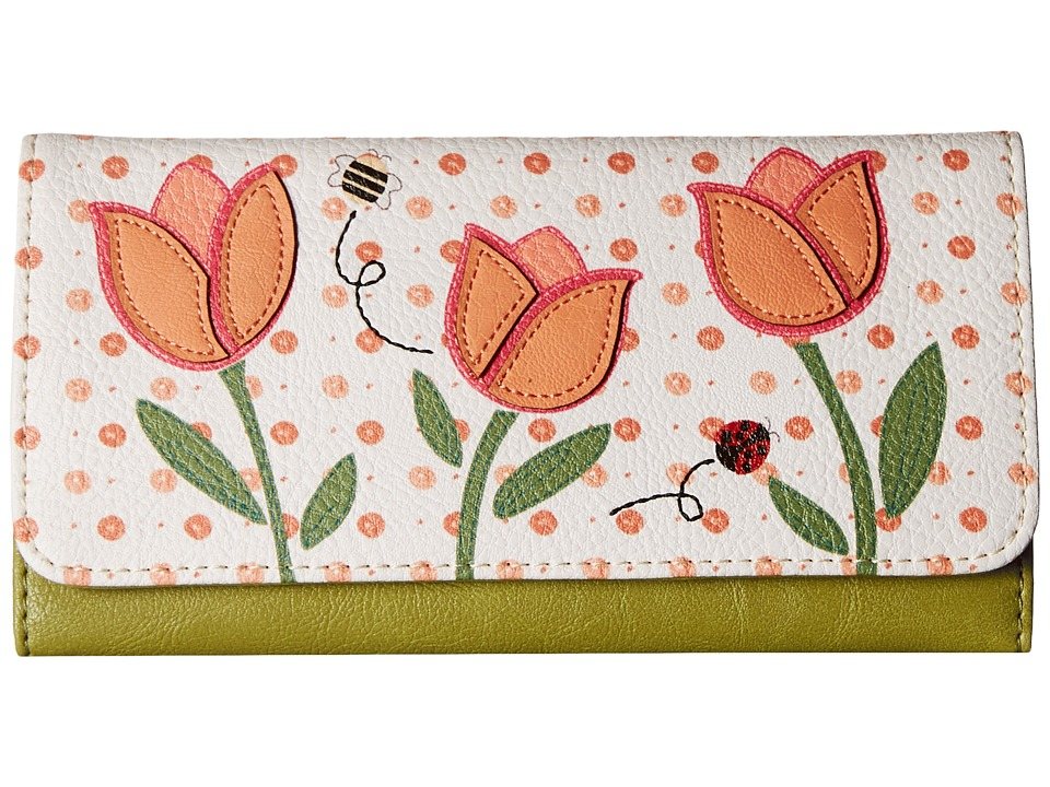 Relic - Takeaway Flap Checkbook (Coral Multi) Checkbook Wallet