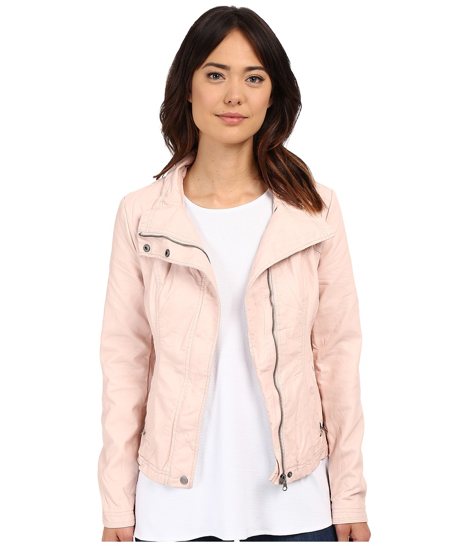 Brigitte Bailey - Doralee Faux Leather Jacket (Pure Blush) Women's Clothing