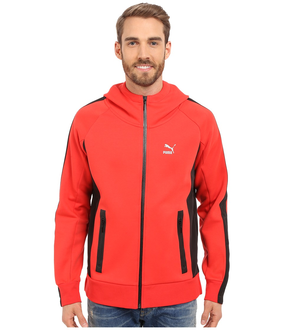 PUMA - Techstyle FZ Hoodie (High Risk Red/Black) Men's Sweatshirt