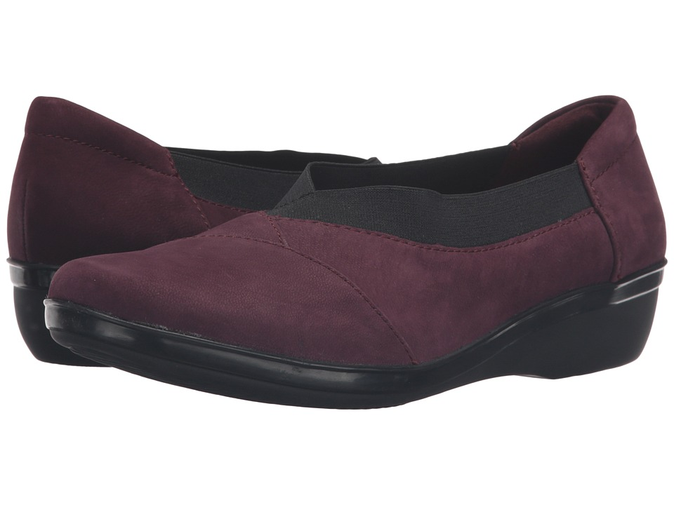 Clarks - Everlay Eve (Aubergine Nubuck) Women's Shoes