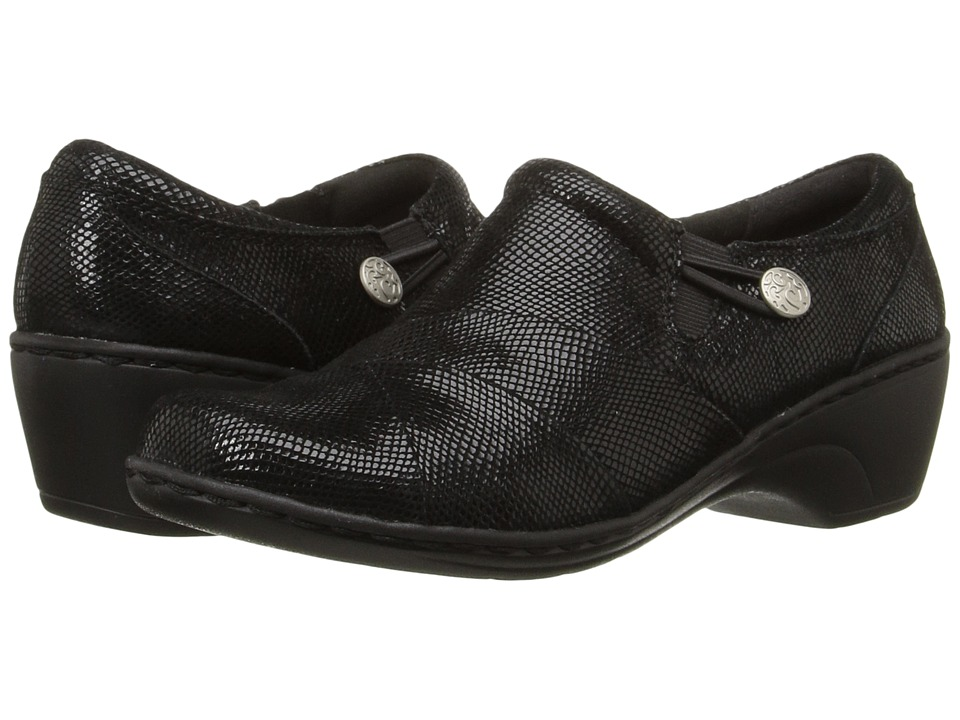 Clarks - Channing Ann (Black Mini Lizard) Women's Shoes