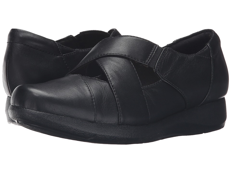 Clarks - Idella Honor (Black Leather) Women's Shoes