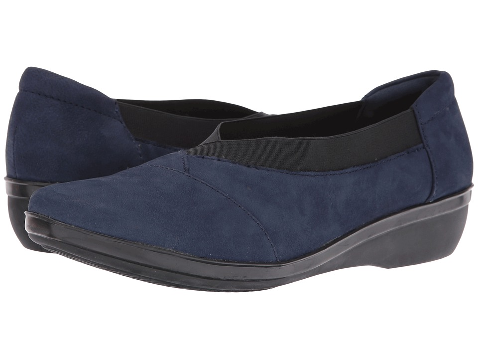 Clarks - Everlay Eve (Navy Nubuck) Women's Shoes