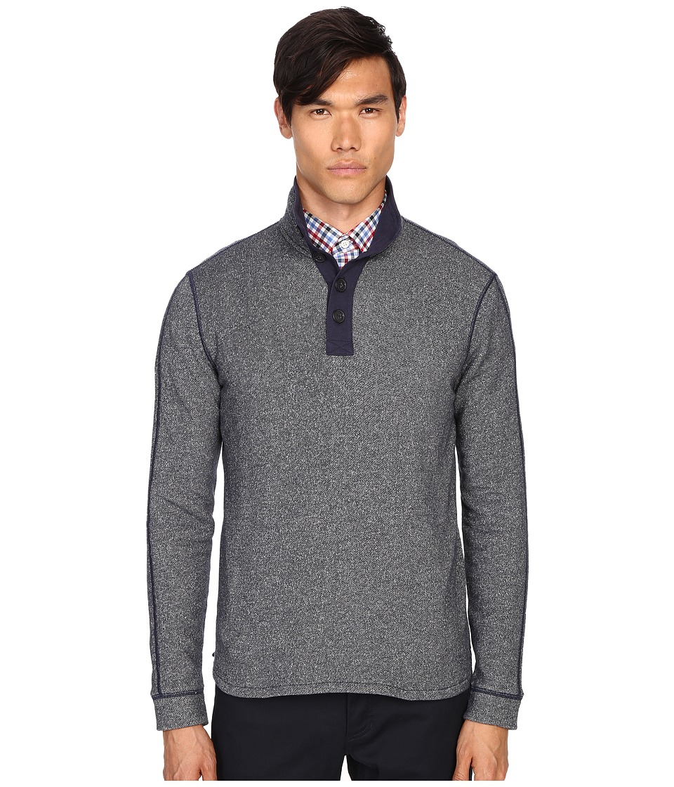 Jack Spade - Dudley Lightweight Sweatshirt (Navy) Men's Sweatshirt