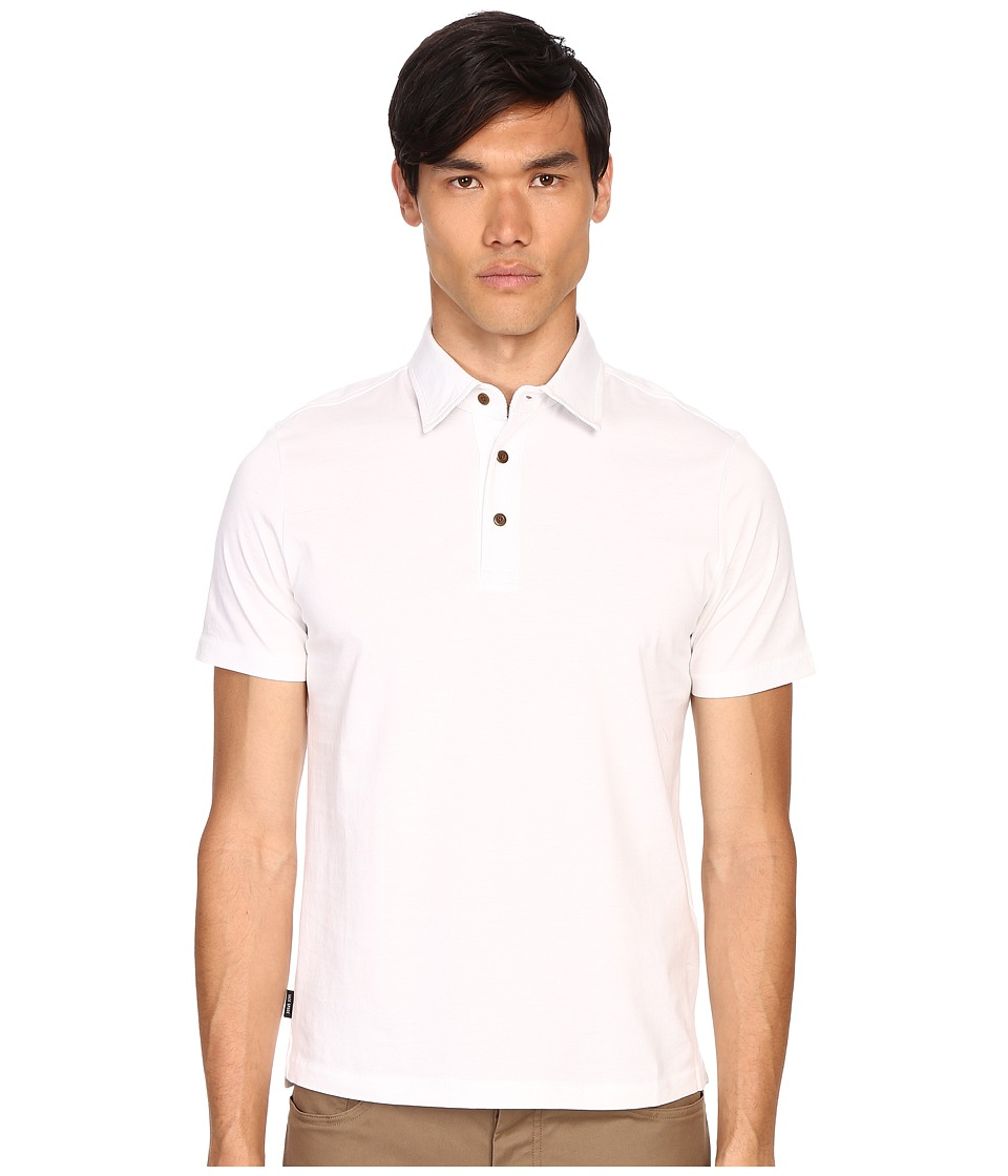 Jack Spade - Keaton Jersey Polo (White) Men's Short Sleeve Knit
