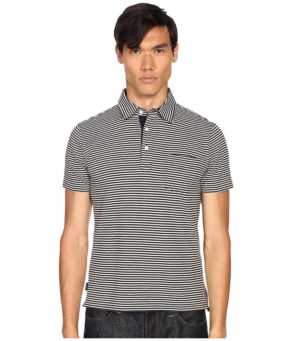 Jack Spade - Warren Stripe Polo (Navy) Men's Clothing