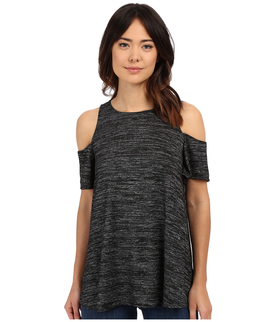 Brigitte Bailey - Ena Cold Shoulder Top (Black) Women's Short Sleeve Knit