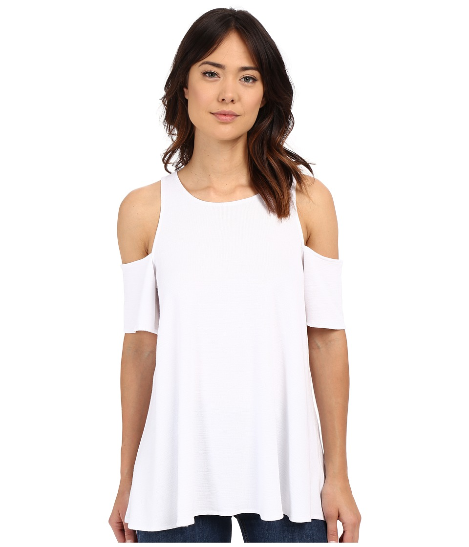 Brigitte Bailey - Ena Cold Shoulder Top (White) Women's Short Sleeve Knit