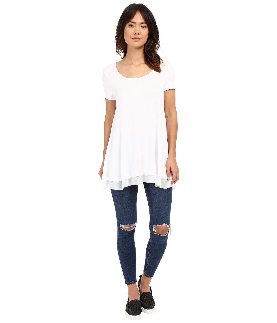 Brigitte Bailey - Dorette Basic Top (White) Women's Short Sleeve Pullover