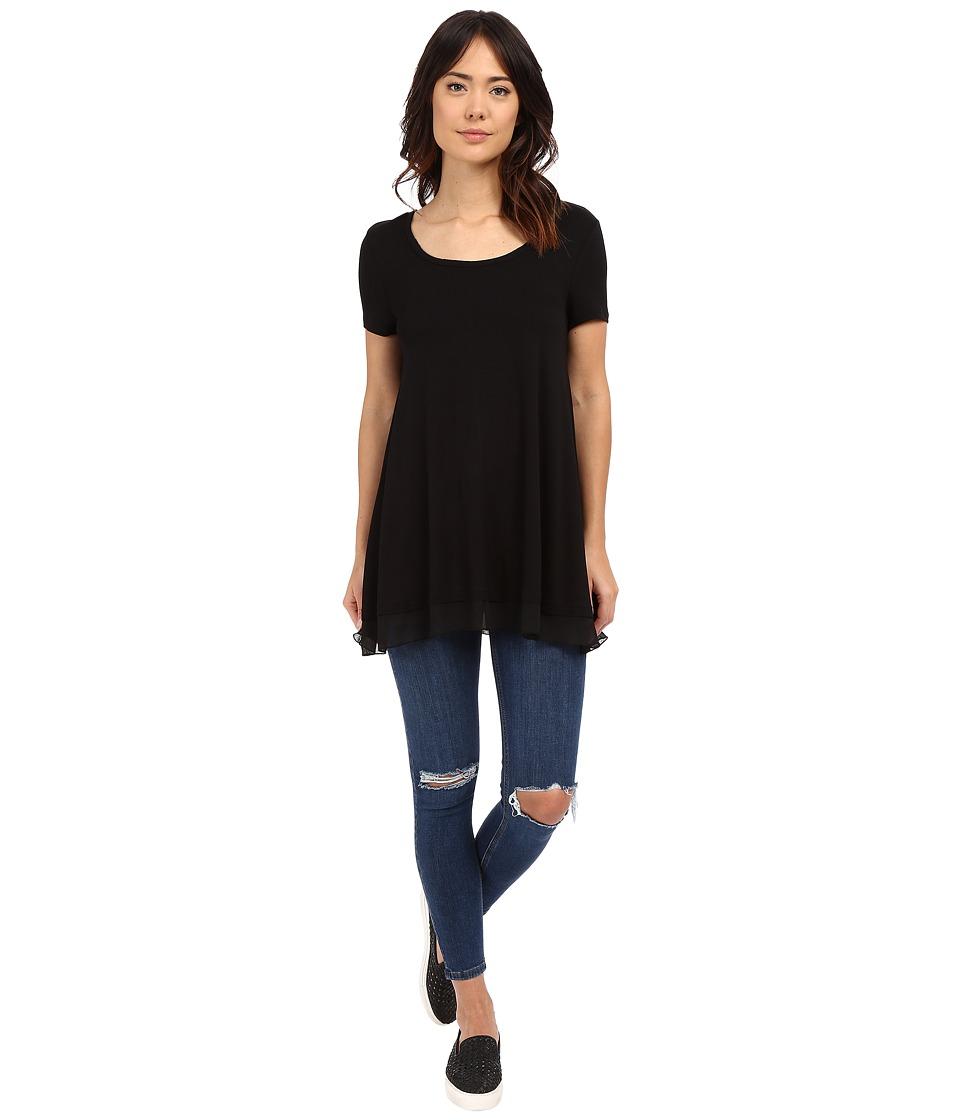 Brigitte Bailey - Dorette Basic Top (Black) Women's Short Sleeve Pullover