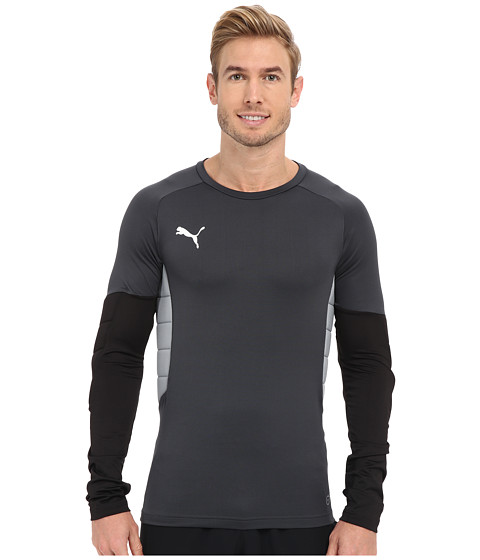 PUMA - GK Padded Shirt (Ebony/Black/Tradewin) Men