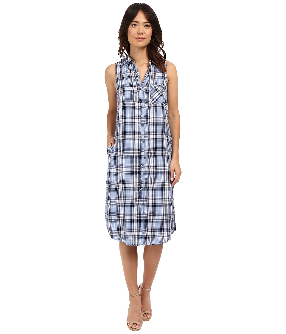 Brigitte Bailey - Dasey Button Front Dress (Blue) Women's Dress